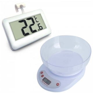 5KG/1G Multifunction Kitchen Scale with Fridge Warning Detector Thermometer