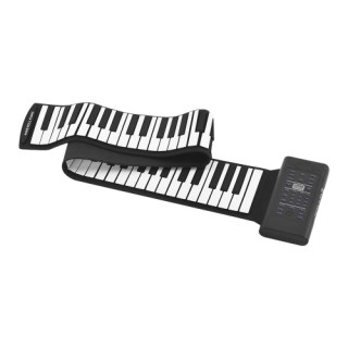 88 Keys Portable Roll Up Piano Electronic Keyboard Silicon Built-in Stereo Speaker 1000mA Li-ion Bat