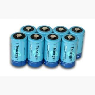 8pcs Tenergy C 5000mAh NiMH Rechargeable Batteries