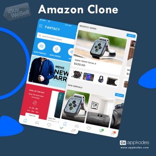A ready-to-use Amazon clone that helps you in building an amazing multi-vendor ecommerce app.