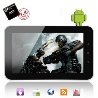 A10 1.5GHz 7 Inch Android 2.3 Tablet PC (WIFI, 3G, Ethernet, G Sensor)