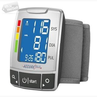 AccuraPulse Wrist Blood Pressure Monitor BP Cuff, Fully Automatic