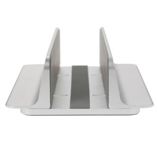 Adjustable Vertical Laptop Stand Aluminum Alloy Holder Bracket Cooler Cooling Pad Space-saving for M