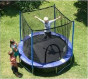 AirZone 8 Foot Trampoline & Enclosure Safety Net