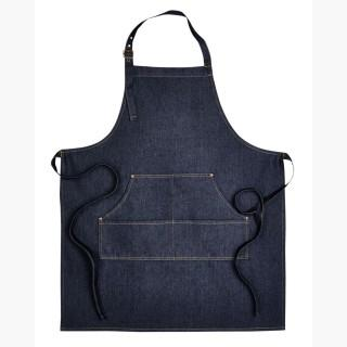 Artisan Collection RP126 Unisex Jeans Stitch Denim Bib Apron - Indigo Denim - One Size