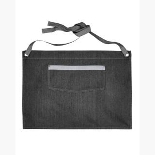 Artisan Collection RP128 Unisex Domain Contrast Denim Waist Apron - Black Denim - One Size