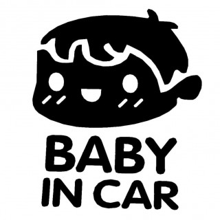 BABY IN CAR Car Windscreen Panel Bumper Car Truck Reflective Sticker Decal