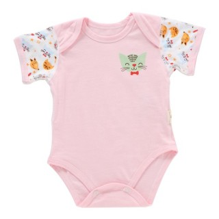 Baby Romper Unisex 100% Cotton Babysuit Baby Clothes Playsuit Cat Print Short Sleeve Summer For Newb