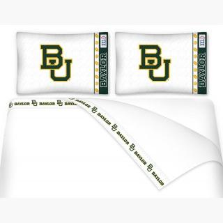 Baylor University Bears Full Bed Sheet Set - 4pc NCAA College Football Logo Bedding