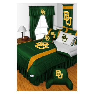 Baylor University Bears Queen Bed Comforter - NCAA College Football Logo Bedding