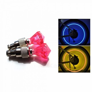 Bicycle Valve Light Bicycle Diamond Nozzle Light Hot Wheels Wheel Pneumatic Lamp Riding Equipment 1