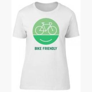 Bike Friendly, Bike Lovers Tee Women's -Image by Shutterstock