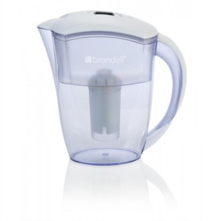 Brondell H10-W 6 Cup Water Filtration Pitcher, White