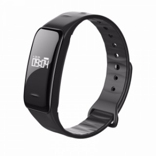 C1 Blood Pressure Oxygen Heart Rate Pedometer Smart Bracelet for Android IOS Black