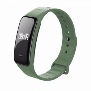 C1 Blood Pressure Oxygen Heart Rate Pedometer Smart Bracelet for Android IOS Green