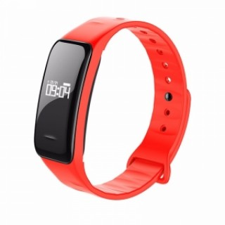 C1 Blood Pressure Oxygen Heart Rate Pedometer Smart Bracelet for Android IOS Red