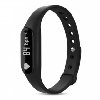 C6 Heart Rate Monitor Smartband Waterproof Fitness Bracelet for Android IOS Black