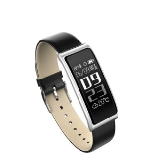C9s Heart Rate Smart Touch Screen Bracelet Watch for Android IOS - Silver