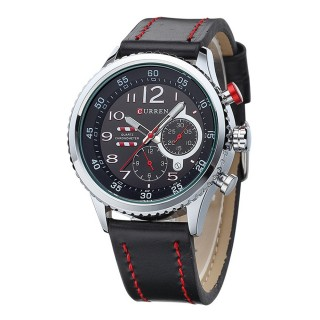 CURREN 8179 Men's New Genuine Leather Strap Luxury Sport Watch