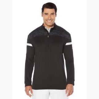 Callaway Big & Tall Opti-Therm 1/4-Zip Heathered Shoulder Pullover