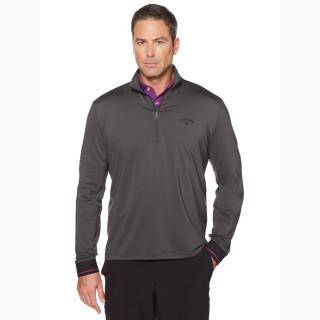 Callaway Big & Tall Opti-Therm 1/4-Zip Textured Band Pullover