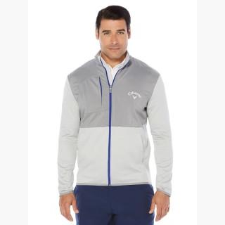 Callaway Big & Tall Opti-Therm Full-Zip Heathered Waffle Fleece Jacket