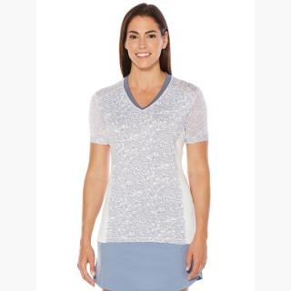 Callaway Women's Opti-Vent Muted Floral V-Neck