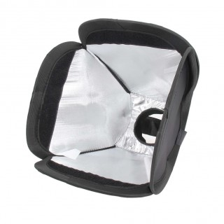 Camera Flash Diffuser Mini Portable 9inch/23cm Softbox Diffuser For Flash/Speedlite/Speedlight 23x23