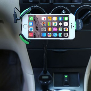 Car Mount Holder With 3.1 Amp USB Car Charger and FM transmitter for car use