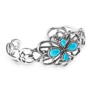 Carolyn Pollack Sleeping Beauty Turquoise Cuff Bracelet USA