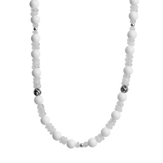 Carolyn Pollack White 21 Beaded Necklace