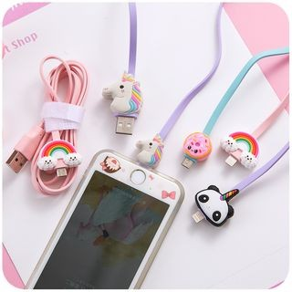 Cartoon iPhone Lightning / Android Micro-USB Charging Cable USA