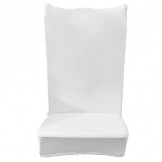 Chair Cover Solid Thin Elastic Banquet Seat Sleeve Chair Wrap Hotel Gift(A)