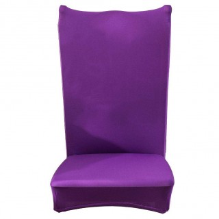 Chair Cover Solid Thin Elastic Banquet Seat Sleeve Chair Wrap Hotel Gift(B)
