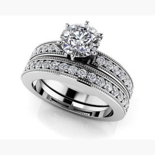 Channel Diamond Bridal Set