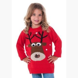 Child Reindeer Ugly Christmas Sweater USA