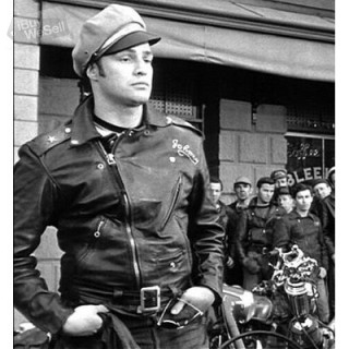 Classic Marlon Brando Biker Leather Jacket