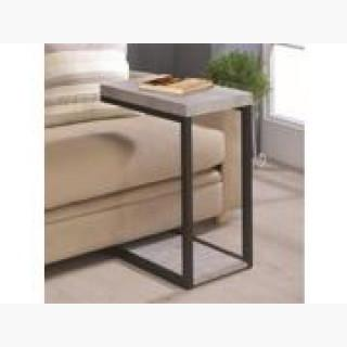 Coaster 902933 Accent Tables Industrial Snack Table, Cement & Black