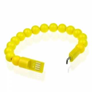Colorful Acrylic Buddha Beads Bracelet Micro USB Cable for Samsung LG HTC Android  Smart Phones Yell