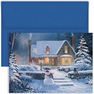 Coming Home Christmas Cards With Blue Envelopes - 72 Pack UK