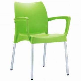 Compamia ISP047-APP Dolce Set of 4 Resin Outdoor Armchairs Apple Green