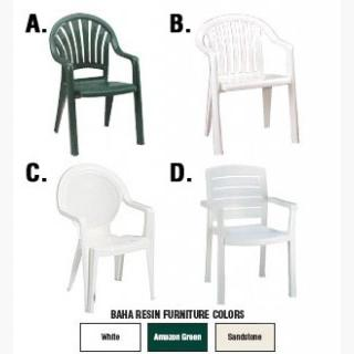 Contract-Grade Outdoor Resin Chairs - B.  Miami Lowback Chair