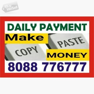 Copy paste Job Earn Daily Rs. 400/- |  Contact me  | 1210 | online work