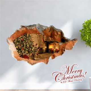 Creative Christmas 3D Decorative Wall Sticker Christmas Holiday Decor Christmas Gifts USA