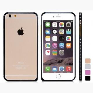 Crystal Decorated Metal Bumper for 5.5 & quot;  iPhone 6 Plus/iPhone 6S Plus (Black)