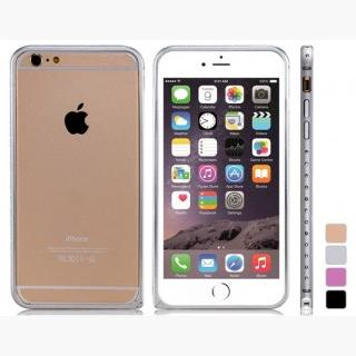 Crystal Decorated Metal Bumper for 5.5 & quot;  iPhone 6 Plus/iPhone 6S Plus (Silver)