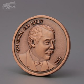 Custom Challenge Coins | Colonel Eli Lilly Personalized Coins