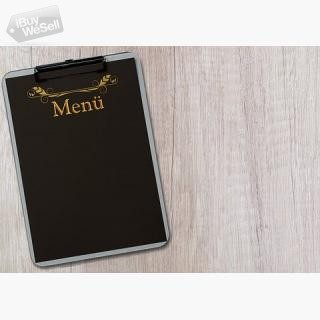 Custom restaurant menu cover