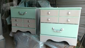 Custom, One of a Kind, Refurbished, nightstand set (2)