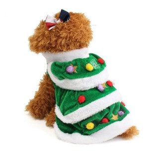 Cute Christmas Tree Design Pet Dog Winter Warm Clothes